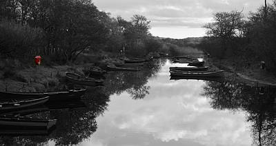 Photograph - Boats Near Ross Castle by Barbara Walsh
