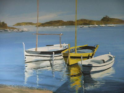 boats of Cadaques Art Print by Clive Holden