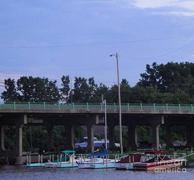 Mixed Media - Boats Of Huron Ohio by Jackie Bodnar