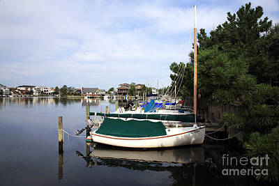 Boats Of Long Beach Island Color Art Print by John Rizzuto
