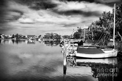Boats Of Long Beach Island Print by John Rizzuto