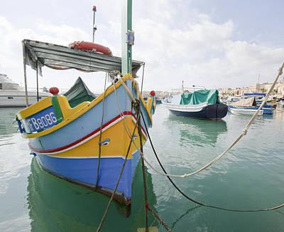 Marsaxlokk Photograph - Boats Of Malta by Bob VonDrachek