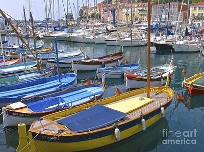 Photograph - Boats Of Nice Harbor by Suzanne Oesterling