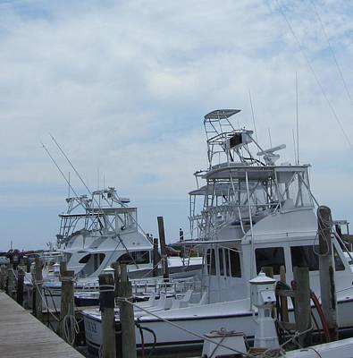 Art Print featuring the photograph Boats Of Oregon Inlet by Cathy Lindsey