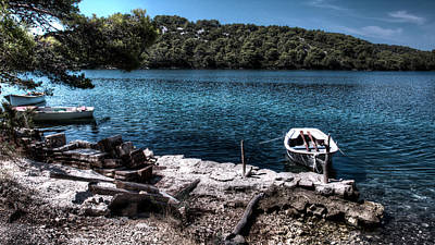 Photograph - Boats On A Blue Lake  by Weston Westmoreland