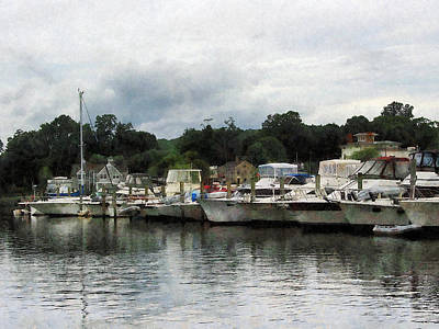 Art Print featuring the photograph Boats On A Cloudy Day Essex Ct by Susan Savad