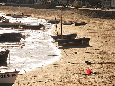 Suffolk Painting - Boats On Beach 02 by Pixel  Chimp