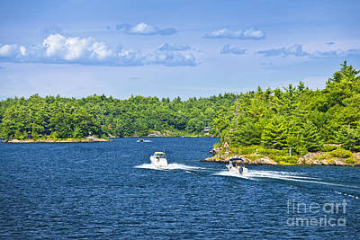 Watercraft Photograph - Boats On Georgian Bay by Elena Elisseeva