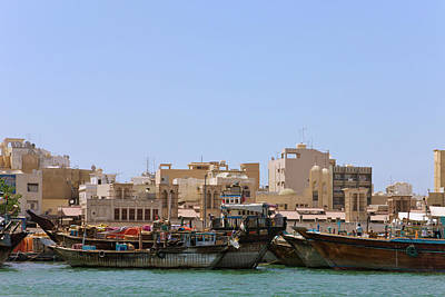 Dubai Photograph - Boats On Khor Dubai (dubai Creek by Keren Su