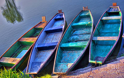 Photograph - Boats On River by Nina Ficur Feenan
