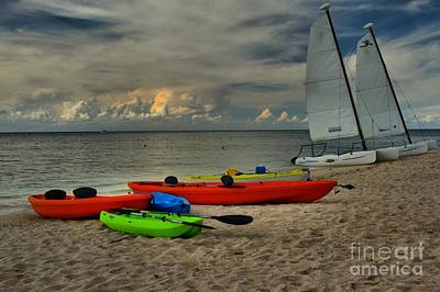 Photograph - Boats On The Beach by Adam Jewell