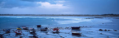 Boats On The Beach, Pors Carn Art Print by Panoramic Images