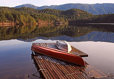 Photograph - Boats On The Dock By The Lake by Peggy Collins
