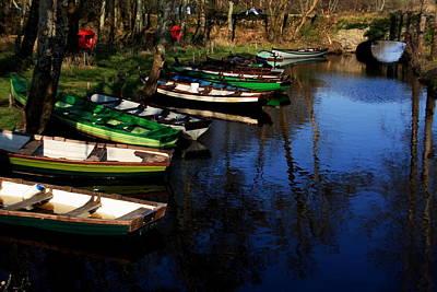 Boats On The River  Art Print by Aidan Moran