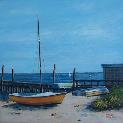 P Town Painting - Boats Provincetown by Candice Ronesi
