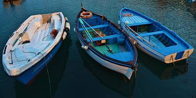 Photograph - Boats Trio by Dany Lison