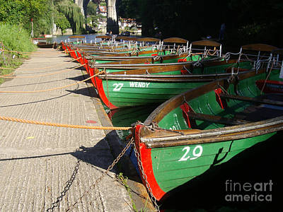 Art Print featuring the photograph Boats Waiting For Kids by Doc Braham