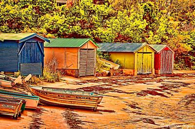 Photograph - Boatsheds by Wallaroo Images