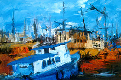 Boatyard Art Print by Amir