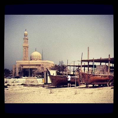Boatyard Dubai Art Print by Maeve O Connell