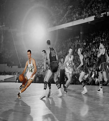 Bob Cousy Photograph - Bob Cousy by Brian Reaves