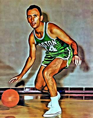 Painting - Bob Cousy by Florian Rodarte