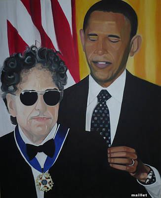 Bob Dylan And Barak Obama Original