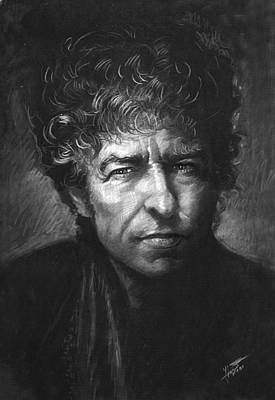 Drawing - Bob Dylan by Viola El