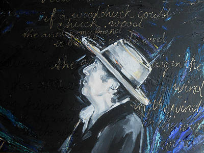 Bob Dylan - Blowing In The Wind Art Print by Lucia Hoogervorst