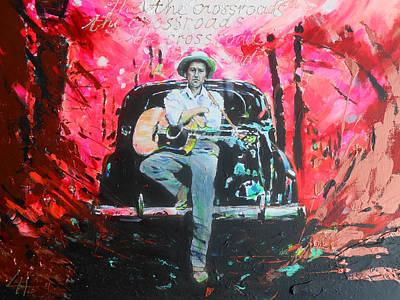 Bob Dylan - Crossroads Art Print by Lucia Hoogervorst