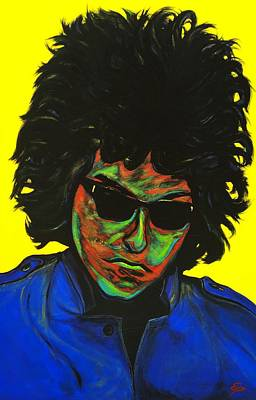 Painting - Bob Dylan by Edward Pebworth