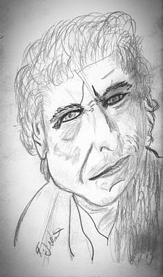 Drawing - Bob Dylan by Frank Winters
