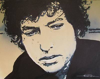 Dylan Drawing - Bob Dylan - It's Alright Ma by Eric Dee