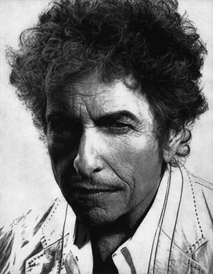 Highway 61 Revisited Drawing - Bob Dylan  by Justin Clark