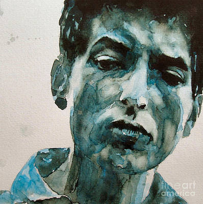 Rock Painting - Bob Dylan by Paul Lovering