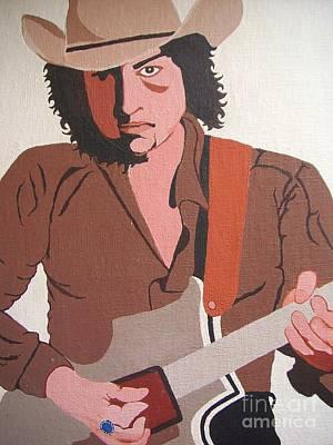 Bob Dylan - Celebrities Art Print by Susan Carella