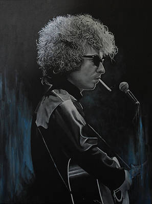 Painting - Bob Dylan 'tangled Up In Blue' by David Dunne