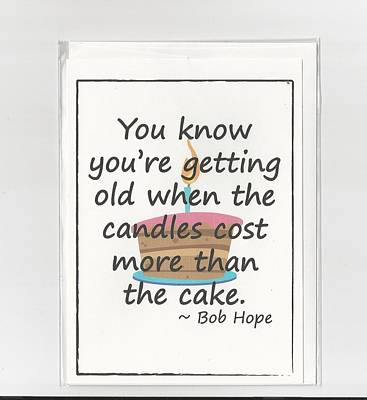 Bob Hope Birthday Card Original