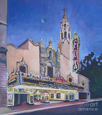 The Downtown Gallery Painting - Bob Hope Theatre by Vanessa Hadady BFA MA