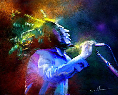 Reggae Art Painting - Bob Marley 01 by Miki De Goodaboom