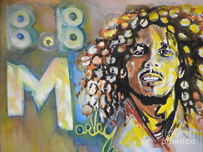 Bob Marley Abstract Painting - Bob Marley 03 by Chrisann Ellis