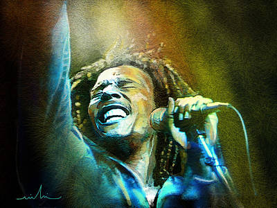 Reggae Art Painting - Bob Marley 06 by Miki De Goodaboom