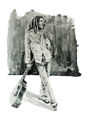 Zion Painting - Bob Marley 3 by Bekim Art