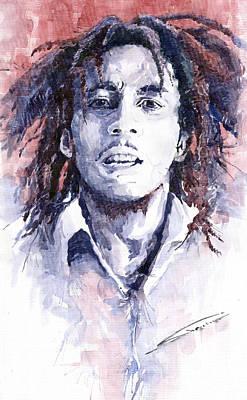 Bob Marley Painting - Bob Marley 3 by Yuriy  Shevchuk