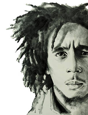 Painting - Bob Marley 6 by Bekim Art