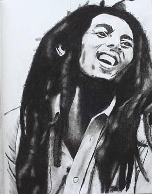 Drawing - Bob Marley by Aaron Balderas