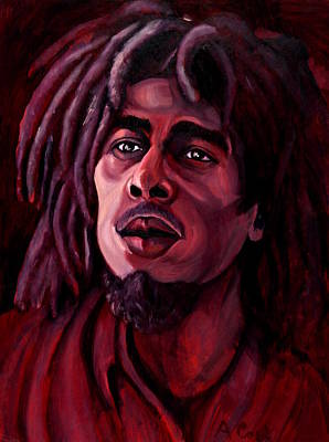 Wall Art - Painting - Bob Marley by Adam B Cook
