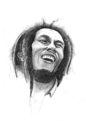 Faces Drawing - Bob Marley by Allan Swart