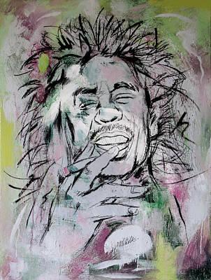 Bob Marley Abstract Painting - Bob Marley Art Painting Sketch Poster by Kim Wang