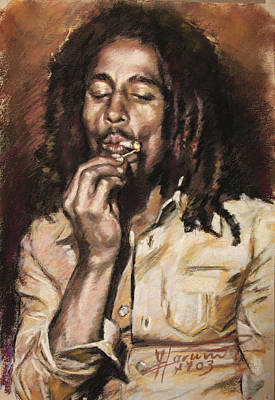 Drawing - Bob Marley by Viola El